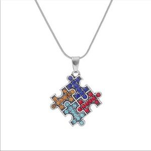 Jewelry - Jigsaw puzzle sterling silver necklace